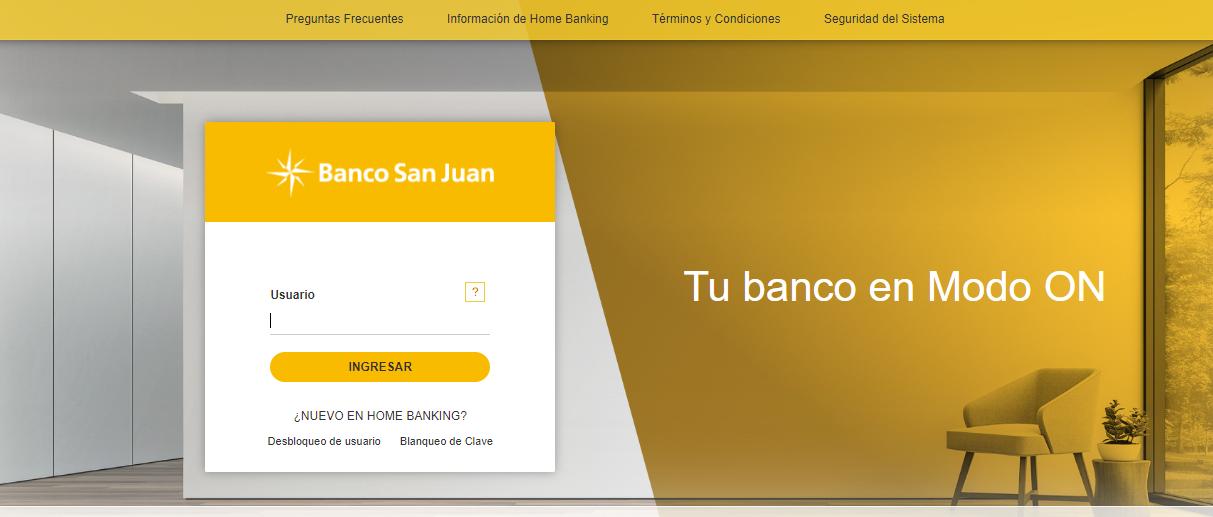 Como Hacer Home Banking Banco San Juan