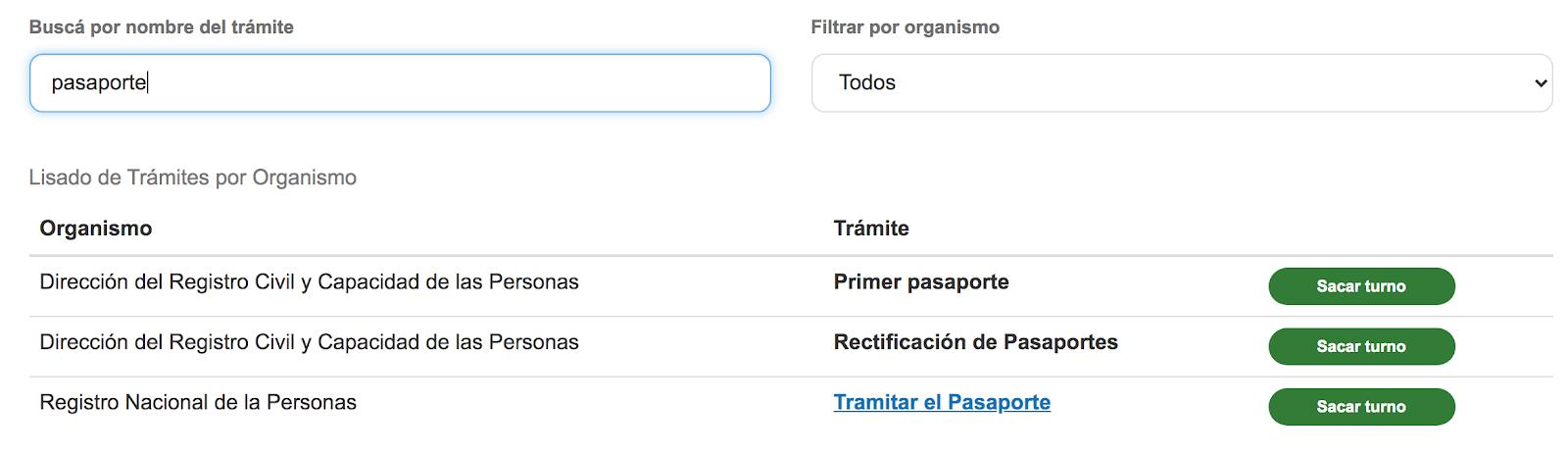 Sacar Turno Para Pasaporte