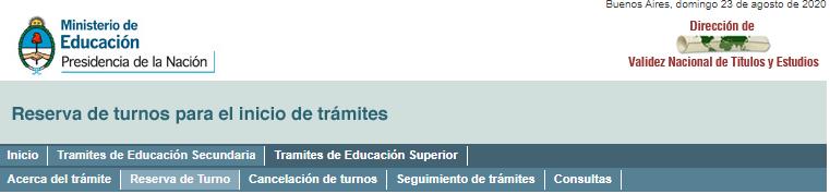 Como Sacar Turno Para Convalidacion De Títulos Secundario En Argentina